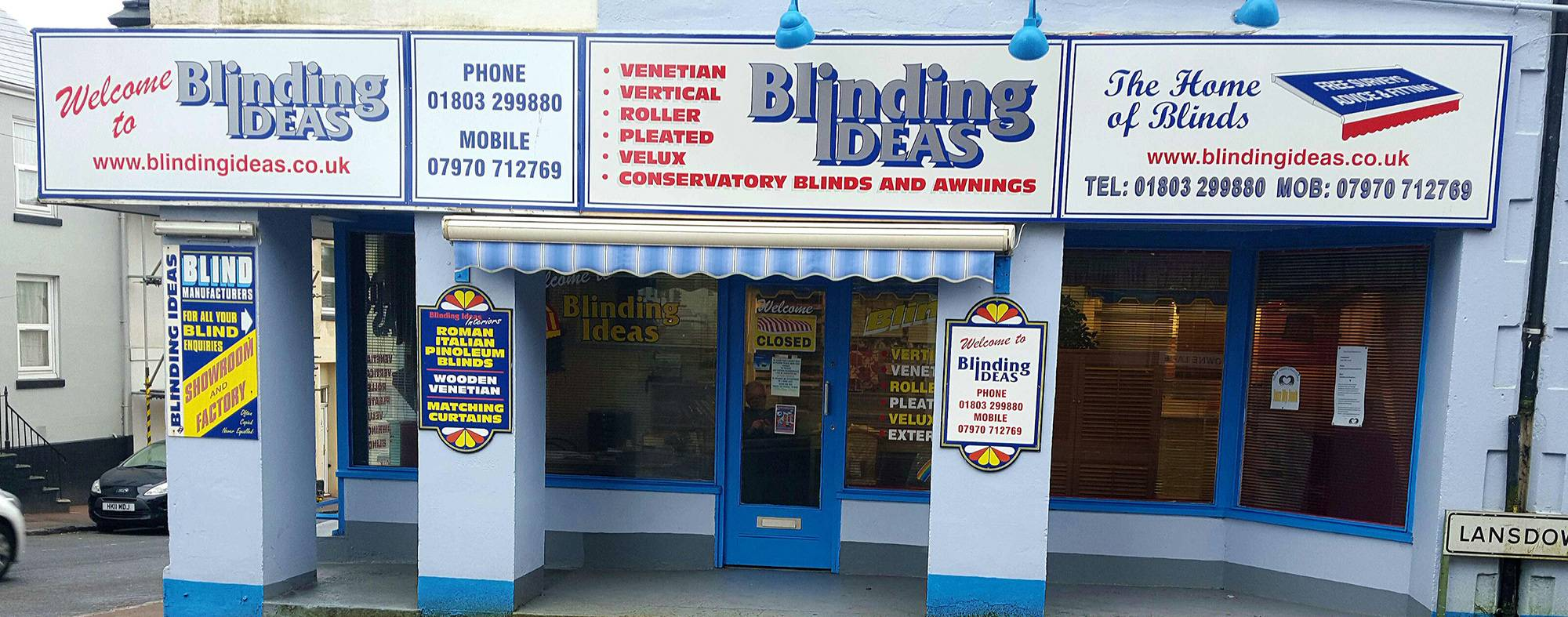 Blinding ideas quality blinds in torquay and devon for Shop front design ideas